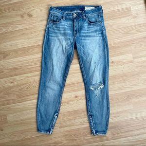 Pistola Aline Hi-Rise Distressed Ankle Zip Jeans